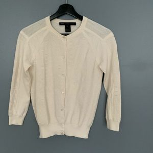 Marc By Marc Jacobs Textured Cream Cardigan SZ S